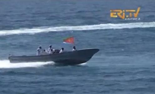 استعراض للقوات البحرية في احتفال ارتريا بالذكرى 23 للاستقلال