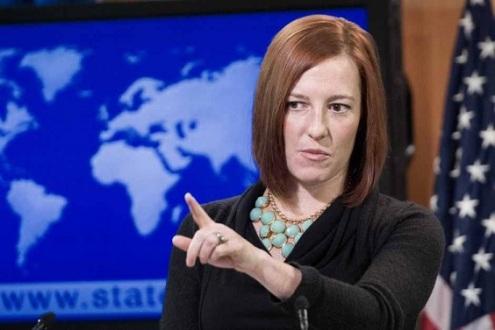 المتحدثة باسم الخارجية الامريكية جنيفر بساكي تدعو ارتريا الى اتخاذ خطوات فورية من اجل اطلاق سراح الصحفيين المعتقلين فى سجون النظام.