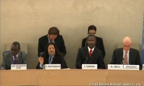لجنة الأمم المتحدة لتقصى الحقائق عن حقوق الإنسان فى أرتريا تقدم تقرير شفهي أمام مجلس حقوق الإنسان فى جنيف