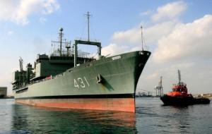 سفينة الامداد خرج الايرانية في ميناء عصب في 31 اكتوبر 2010