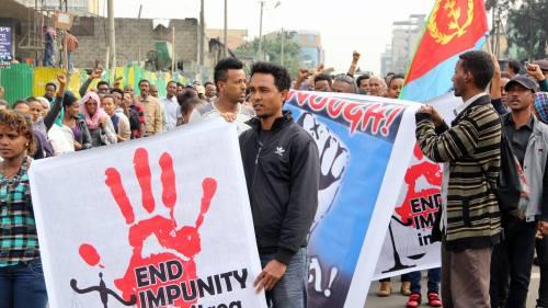eritrean demo addis 26 june 2015
