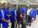 المنخب الارترى  اثناء مغادرته مطار اسمرا فى طريقه لبوتسوانا